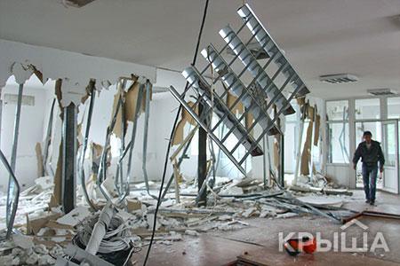 Новости: В Алматы начался снос Национального пресс-клуба