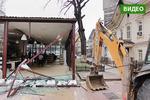 Новости: На Арбате в Алматы начался снос столовой «Компот»