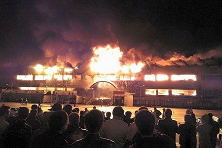 Новости: В Алматы горел крупный торговый центр