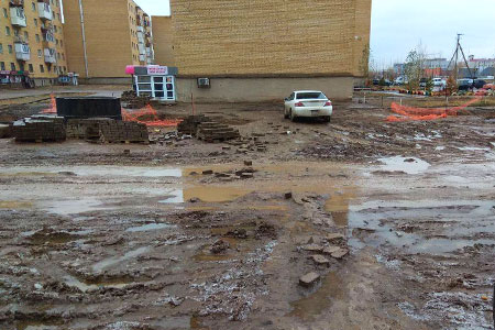Новости: Астанчане утопают вгрязи