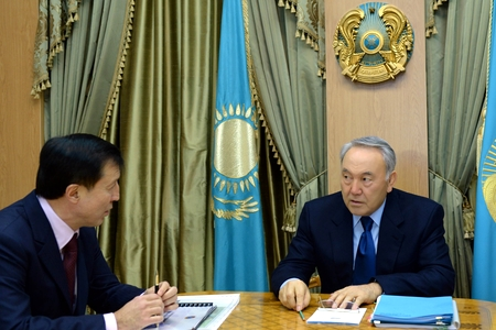 Новости: Аким Астаны встретился с президентом