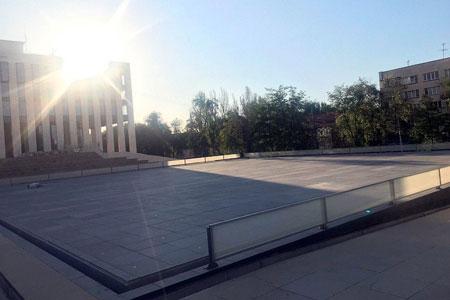 Новости: Наместе фонтана «Одуванчики» вАлматы появился сухой фонтан