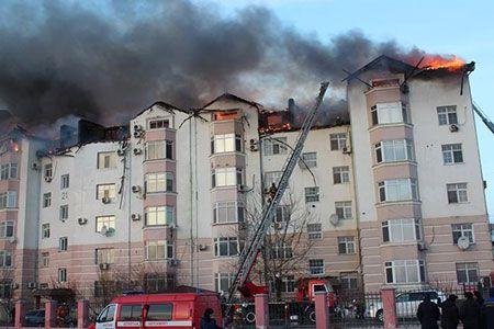 Новости: В Актау горела шестиэтажка