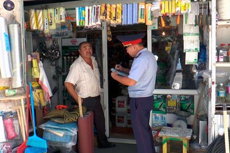 Новости: Уличных торговцев в Алматы оштрафовали почти на9млнтенге