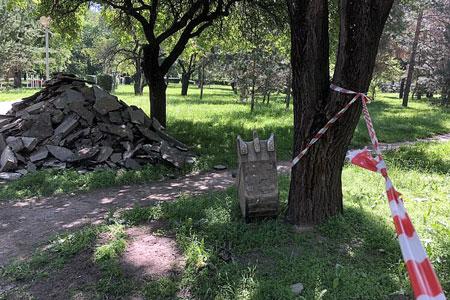 Новости: Акимат Алматы приостановил реконструкцию парка