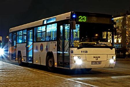 Новости: Ночные автобусные маршруты внедрят в Астане