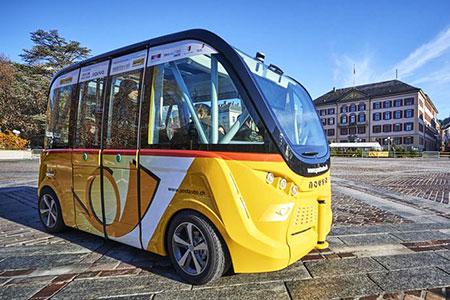 Новости: В Швейцарии появились первые автобусы без водителей