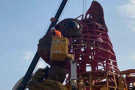 Новости: В Алматы демонтировали Белку