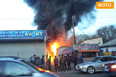 Новости: Пожар в Алматы уничтожил СТО и автомобили
