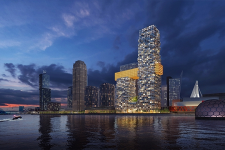 Новости: ВРоттердаме построят две башни смостом посередине