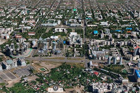 Новости: В Алматы запущена трёхмерная геоинформационная система