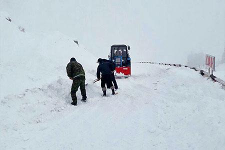Новости: В районе БАО в Алматы сошла лавина