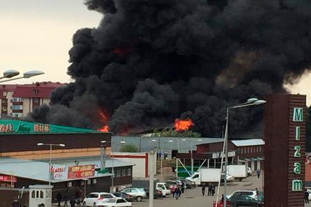 Новости: Пожар набарахолке вАлматы: привлечена авиация