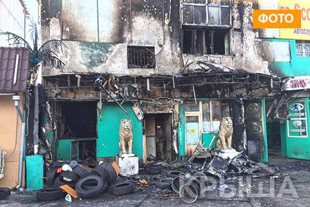 Новости: В Алматы дотла выгорела СТО