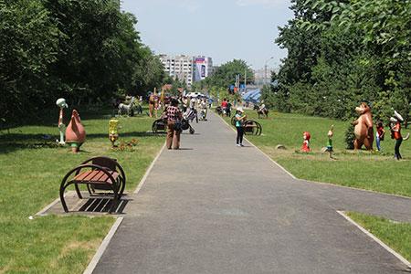 Новости: В Алматы строят две пешеходные зоны