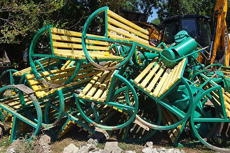 Новости: В акимате Алматы прокомментировали демонтаж скамеек