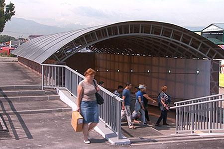Новости: В Алматы построили 38-метровую подземную пешеходку