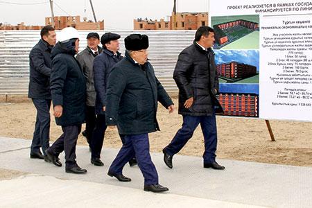 Новости: Воснование нового дома вКызылорде заложили капсулу спосланием