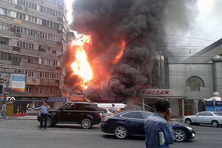 Новости: Алматы: на Арбате горел торговый центр