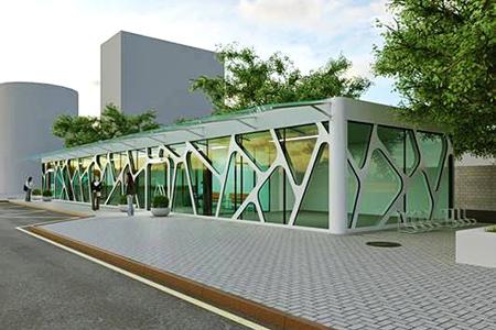 Новости: Остановка возле Центрального стадиона вАлматы изменитсвойоблик