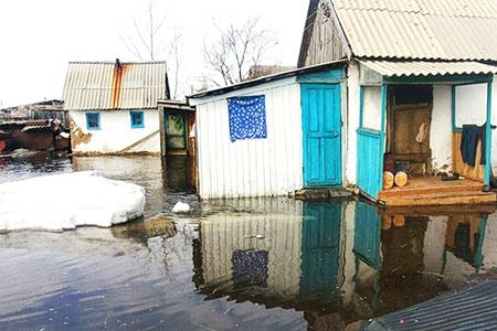 Новости: Несколько сёл в СКО затоплены талыми водами