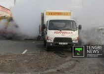 Новости: В Алматы ликвидировали крупную аварию на теплотрассе