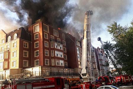 Новости: Глава BIGroup высказал претензии поповоду тушения пожара вЖК«Британский квартал»
