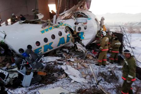 Новости: Пассажирский самолёт разбился вАлматы