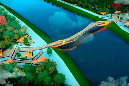 Новости: Опубликованы эскизы велопешеходного моста вНур-Султане