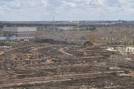 Новости: В Астане внезапно исчез целый парк