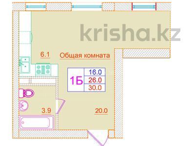 1-комнатная квартира, 30 м², 2/3 эт., Кургальжинское шоссе — Актамберды жырау за ~ 4.4 млн ₸ в Нур-Султане (Астана), Есильский р-н — фото 3