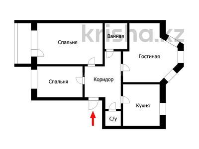 3-комнатная квартира, 96 м², 4/9 эт., Сакена Сейфуллина 3 — Кумисбекова за 29 млн ₸ в Нур-Султане (Астана), Сарыаркинский р-н — фото 2