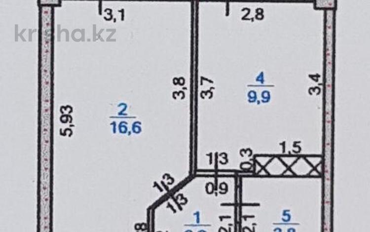 1-комнатная квартира, 37 м², 2/9 этаж, 18 микрорайон 78А за 13 млн 〒 в Шымкенте, Енбекшинский р-н