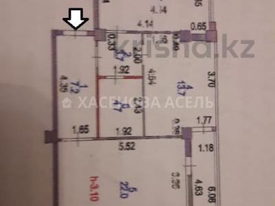 2-комнатная квартира, 72 м², 3/12 этаж, Е 49 7 за 22.3 млн 〒 в Нур-Султане (Астана), Есиль р-н