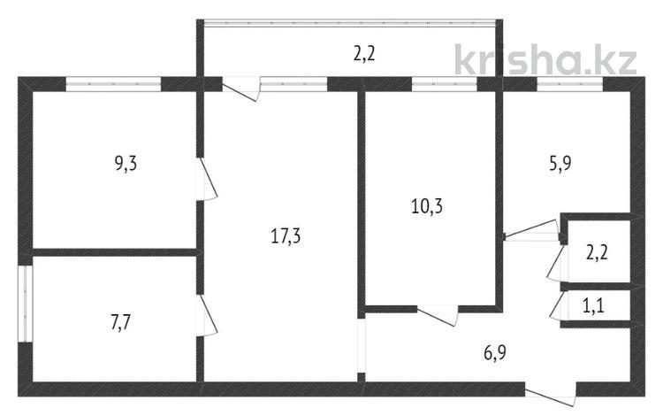 4-комнатная квартира, 62.9 м², 1/5 этаж, Строительная улица за 14 млн 〒 в Костанае