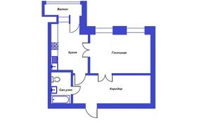 1-комнатная квартира, 52.47 м², 7/8 этаж, Микрорайон Центральный 41Б — Абылай-Хана за ~ 13.6 млн 〒 в Кокшетау