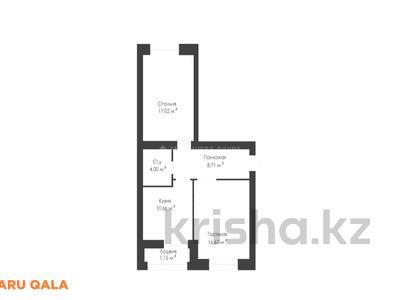 2-комнатная квартира, 58.79 м², Кайыма Мухамедханова за ~ 17.6 млн 〒 в Нур-Султане (Астана), Есиль р-н — фото 7