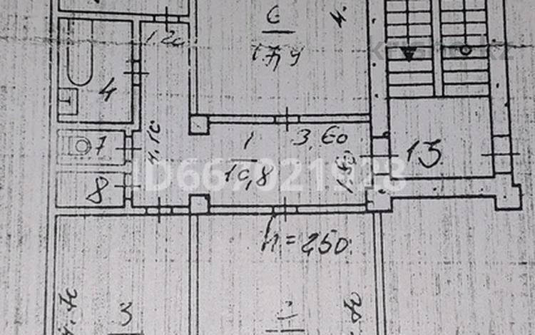 3-комнатная квартира, 72.4 м², 2/3 этаж, Горняков — Молодёжный за 9.2 млн 〒 в Рудном