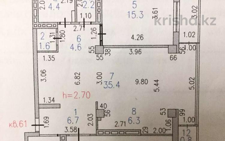3-комнатная квартира, 108 м², 4/9 этаж, Сыганак 15 — Сауран за 40 млн 〒 в Нур-Султане (Астане), Есильский р-н