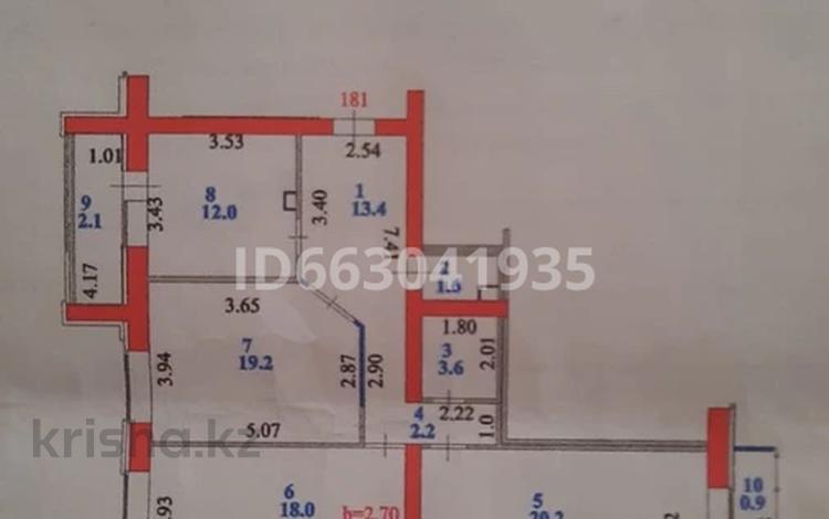 3-комнатная квартира, 95 м², 9/9 этаж, Туркестан 30 за 39 млн 〒 в Нур-Султане (Астана), Есиль р-н