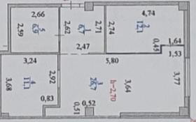2-комнатная квартира, 64 м², 20/25 этаж, Богенбай батыра 56 за 18 млн 〒 в Нур-Султане (Астане), р-н Байконур