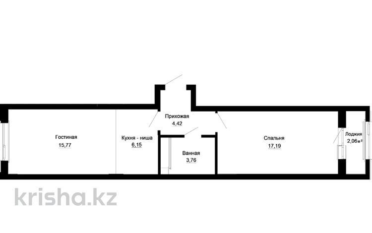 2-комнатная квартира, 49.44 м², 3/9 этаж, Толе би — Е-10 за ~ 14.4 млн 〒 в Нур-Султане (Астана), Есиль р-н