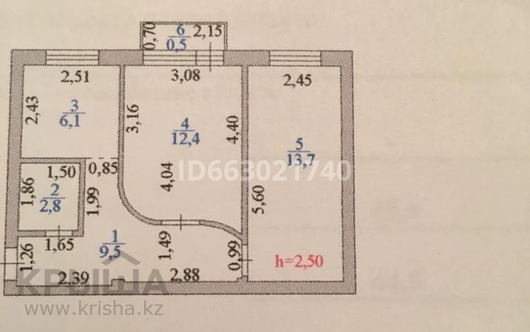 2-комнатная квартира, 45 м², 4/4 этаж, Бейбитшилик — Молдагулова за 12.3 млн 〒 в Нур-Султане (Астана), Сарыарка р-н
