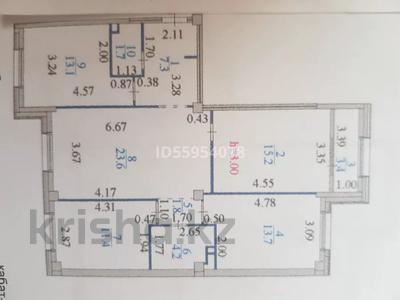 4-комнатная квартира, 100 м², 3/8 этаж, Пригородный, Улы Дала 6 — Сауран за 75 млн 〒 в Нур-Султане (Астане), Есильский р-н