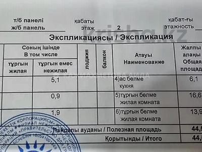 2-комнатная квартира, 44 м², 2/5 этаж, Шокана Валиханова 19 — проспект Абая за 16 млн 〒 в Нур-Султане (Астана), р-н Байконур — фото 8