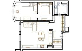 2-комнатная квартира, 68 м², 2/16 этаж, Навои 208/2 — Торайгырова за 36 млн 〒 в Алматы, Бостандыкский р-н