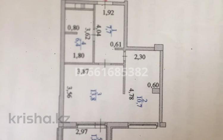 1-комнатная квартира, 40.4 м², 4/7 этаж, 38-ая — Керей-Жанибек за 16 млн 〒 в Нур-Султане (Астана), Есиль р-н