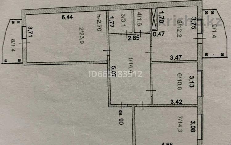 3-комнатная квартира, 83.1 м², 9/10 этаж, Юбилейный 35Б за 18 млн 〒 в Кокшетау