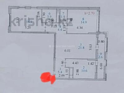3-комнатная квартира, 82 м², 3/14 этаж, Мәңгілік Ел 51 — Улы Дала за 41.5 млн 〒 в Нур-Султане (Астане), Есильский р-н