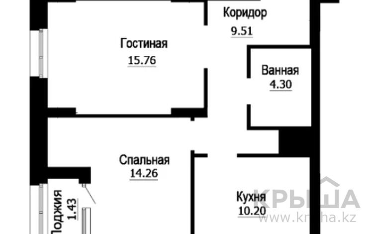 2-комнатная квартира, 58.93 м², 2/22 этаж, Е-22 — Пересечение Е-51 за ~ 15.3 млн 〒 в Нур-Султане (Астана), Есиль р-н